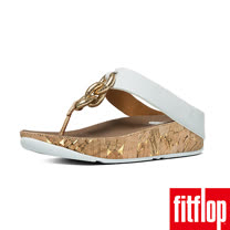 FitFlop™-(女款) SUPERCHAIN™ LEATHER TOE-POST-都會白
