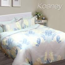 《KOSNEY 夏沫之晨》加大100%天絲全舖棉四件式兩用被冬包組