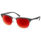 EMPORIO ARMANI太陽眼鏡 率性眉框水銀鏡面款(灰-銀) #EA4072 55026Q