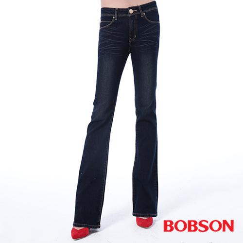 BOBSON 女款保暖布小喇叭褲  9090~53