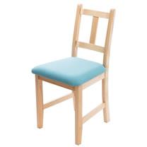 [自然行]- Avigons南法原木椅(扁柏自然色)湖水藍椅墊