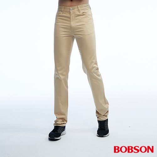 BOBSON 男款高腰配格紋直筒色褲 1821~72