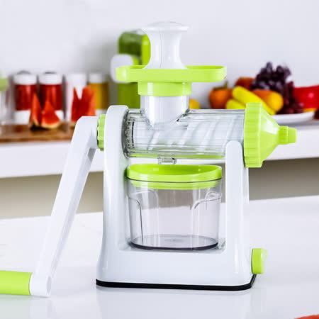 PUSH!廚房用品升級版手動榨汁機嬰兒果汁榨汁器(可製作水果泥霜淇淋)D54