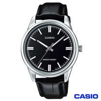 CASIO卡西歐 簡潔風格皮帶男錶-黑 MTP-V005L-1A