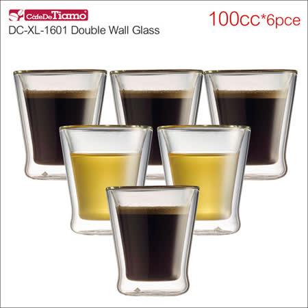 Tiamo DC-XL-1601 雙層玻璃杯 100cc*6入 (HG2051)