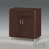 【優利亞-蜜妮胡桃圓角】2.7尺餐櫃