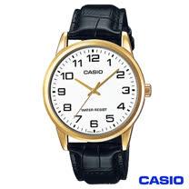 CASIO卡西歐 休閒時尚簡潔大方數字皮帶腕錶 MTP-V001GL-7B