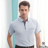 Valentino Rudy范倫鐵諾.路迪吸溼排汗POLO衫-淡藍半圓袖