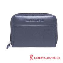 ROBERTA DI CAMERINO 荔枝紋零錢包 - 黑色 040R-B0301