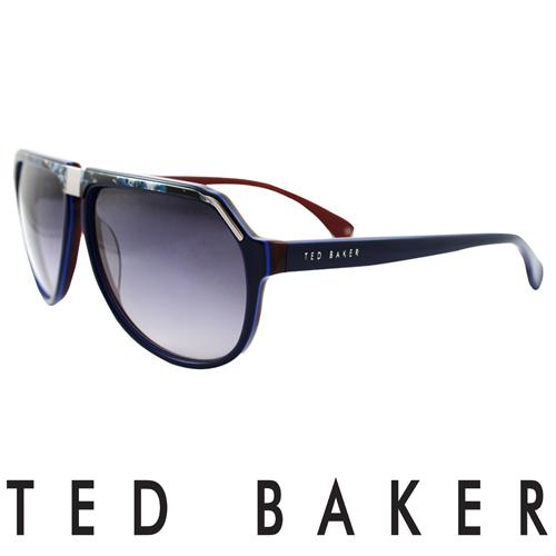 TED BAKER 倫敦 復古 太陽眼鏡 紅  TB1239~625
