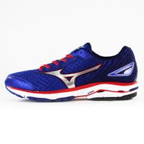 Mizuno 男 WAVE 慢跑鞋WAVE RIDER 19 SW 美津濃 慢跑鞋 藍 J1GC160491