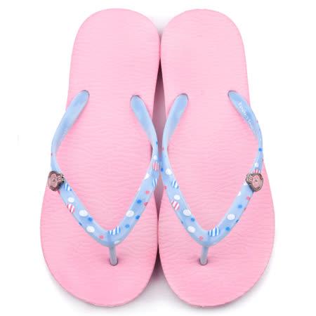 童鞋城堡-卡娜赫拉 女款 簡約輕量夾腳拖鞋KI0522-粉