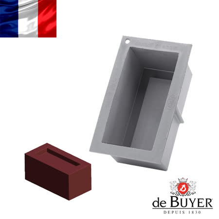 法國【de Buyer】畢耶烘焙『全球專利矽金烤模系列』長方形單人蛋糕烤模