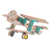 Classic world 德國經典木玩客來喜 DABA-創意卡榫積木滑翔飛機組
