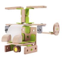 Classic world 德國經典木玩客來喜 DABA-創意卡榫積木 機器人飛機組