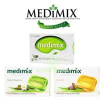 美黛詩 MEDIMIX 印度綠寶石皇室藥草浴 美肌皂 125g-多款組合任選(共30入)