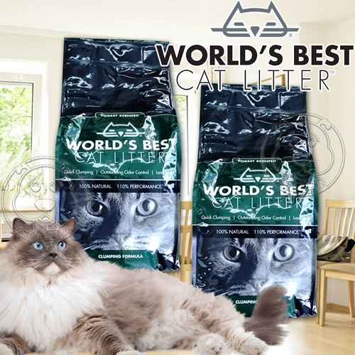 World s Best世嘉~強效凝結配方玉米貓砂森林花草香~12磅5.44kg 包