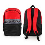 NEWBALANCE 運動後背包-雙肩包 肩背包 18吋筆電 黑紅 M