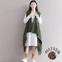 【Maya 名媛】無限身型背心式毛線罩衫#20160909-4