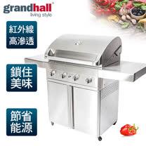 【Grandhall 關中】專業級紅外線BBQ烤肉爐/Grand hall turbo 買就送-SmartCARA 韓國原裝。智慧型卡拉廚餘機/CS-25