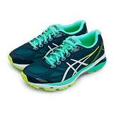【女】Asics亞瑟士 專業慢跑鞋 GT-1000 5 藍白黃 T6A8N-4901