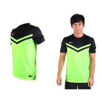(男) NIKE 短袖T恤-慢跑 休閒T 針織 螢光綠黑