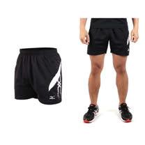 (男) MIZUNO 運動短褲-慢跑 網球 桌球 美津濃 黑白