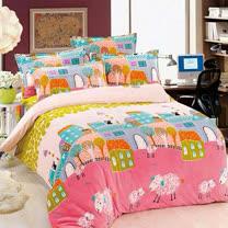 【情定巴黎】幸福莊園 保暖法蘭絨毯包邊超值加厚升級款(150cm x200cm)