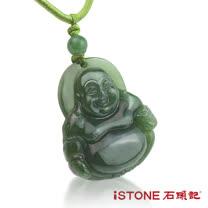 石頭記 彌勒佛碧玉項鍊-護身佛系列(小)