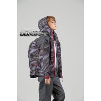 OutPerform-城市遊俠背包款兩截式風雨衣-奧德蒙戶外機能特仕-灰迷彩