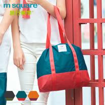 m square輕量摺疊束口購物袋