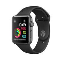 Apple Watch Series 1 42mm/42公釐 A 太空灰色鋁金屬錶殼 搭配黑色運動型錶帶 智慧型手錶【含錶貼+錶套+充電器】(MP032TA/A)