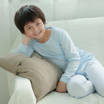 【Anny pepe】男童基本款水藍色長袖 ❤100%美國精梳棉❤入冬必備