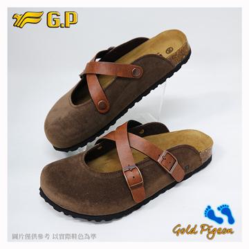 ~G.P 休閒 柏肯鞋~W778~37 咖啡色  SIZE:35~39 共二色