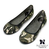 BUTTERFLY TWISTS-CHRISTINA可折疊扭轉芭蕾舞鞋-迷彩綠
