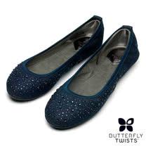 BUTTERFLY TWISTS-CHRISTINA可折疊扭轉芭蕾舞鞋-單寧藍