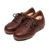 (男) ZOBR 真皮拚色氣墊減壓休閒鞋 棕 鞋全家福