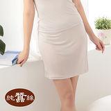 【岱妮蠶絲】LC7011E純蠶絲42針70G素面短襯裙(銀灰)