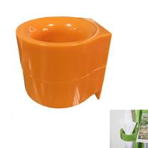 PUSH! 居家生活用品磁吸附式雨傘收納架收納盒I67-1橙色