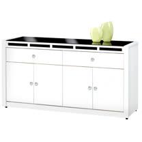 HAPPYHOME 裕隆貝多美白色5尺碗盤櫃UZ6-358-3
