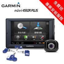 【GARMIN】nuvi 4592R PLUS_Wi-Fi 多媒體衛星導航導航機+400KIT胎內事胎壓感測器大全配超值組_免費送專業安裝