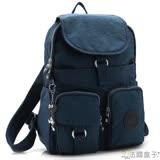 【法國盒子】超實用多口袋後背包(寶藍)1501