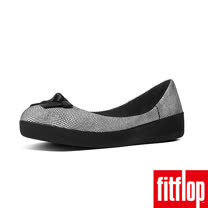 FitFlop™-(女款)SUPERBALLERINA™ PRETTY BOW-蛇紋黑