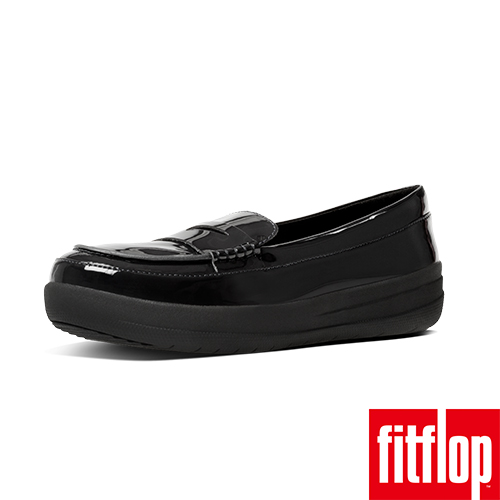 FitFlop™~ 女款 F~SPORTY™ PENNY LOAFERS PATENT~黑