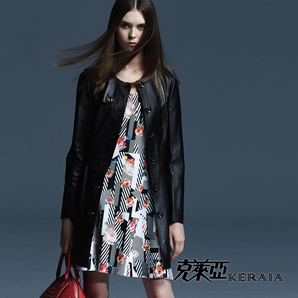 【克萊亞KERAIA】幾何條紋印花洋裝