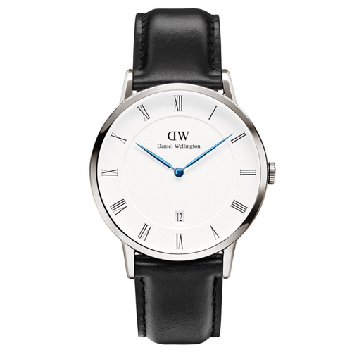 DW Daniel Wellington Dapper 皮革腕錶~銀框 38mm 1121