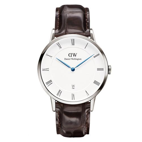 DW Daniel Wellington Dapper 皮革腕錶~銀框 38mm 1122