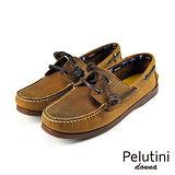 【Pelutini】donna女款休閒雷根鞋 棕色(6733W-DBR)