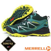 【美國 MERRELL】男款 CAPRA BOLT MID GORE-TEX 多功能防水透氣中筒登山健行鞋.登山鞋/ J35717  綠