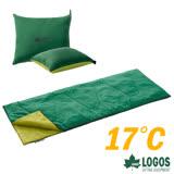 【日本 LOGOS】ROSY 17℃丸洗靠墊中空棉睡袋(2入).信封型睡袋_72600900